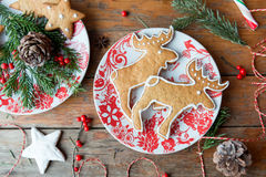 Het baksel van de Kerstmisgember Stock Foto's