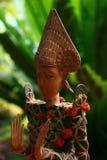Het Balinese Standbeeld van het Gebedmuntstuk Royalty-vrije Stock Foto's