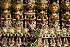 Het Balinese woodcarving Stock Afbeeldingen