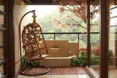 Het balkon van de rust stock foto's