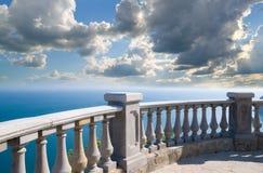 Het balkon van de steen Royalty-vrije Stock Afbeeldingen