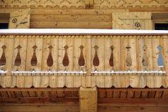 Het balkon van het chalet royalty-vrije stock foto