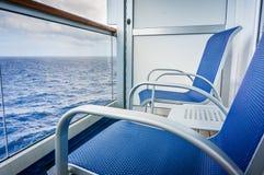 Het Balkon van het cruiseschip stock foto