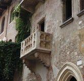 Het Balkon van Julie´s in Verona Stock Foto's