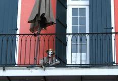 Het balkon van New Orleans stock foto