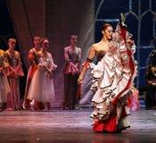 Het ballet van het Meer van de zwaan dat door Russisch Koninklijk Ballet wordt uitgevoerd stock foto