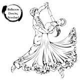 Het ballroom dansennorm van de danslijn vector illustratie