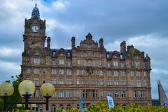 Het Balmoral-Hotel rf in Prinsenstraat, Edinburgh, Schotland stock fotografie
