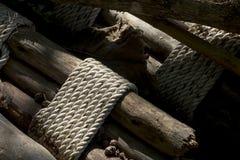 Het bamboe, bindt een kabel Stock Fotografie