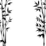 Het bamboe van de inktverf Stock Fotografie