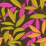Het bamboe verlaat naadloos patroon Stock Fotografie