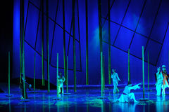 Het bamboebos het verhaal-dansdrama de legende van de Condorhelden Stock Foto's