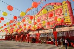Het bamboetheater van het westenkowloon in Hong Kong Royalty-vrije Stock Fotografie