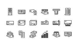 Het bank en financiën de pictogrammen plaatsen 1 vector illustratie