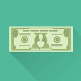 Het bankbiljet groene vector van de dollarmunt Stock Fotografie