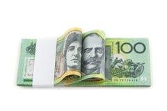 Het bankbiljet van Australië op witte achtergrond Royalty-vrije Stock Foto