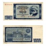Het bankbiljet van Ddr Royalty-vrije Stock Afbeeldingen