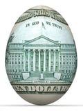 het bankbiljet van de 10 dollar achterkant in vorm van ei. royalty-vrije illustratie