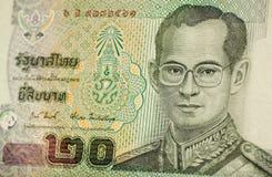 Het bankbiljet van de Koning van Thailand Stock Afbeelding