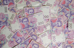 Het bankbiljet van de Oekraïense munt op een witte lijst is partij Stock Afbeelding