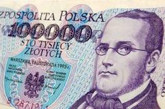 Het bankbiljet van Moniuszko van StanisÅaw Stock Foto
