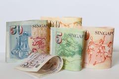 Het bankbiljet van Singapore Stock Afbeelding