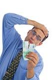 Het bankbiljet van Teared Stock Afbeelding