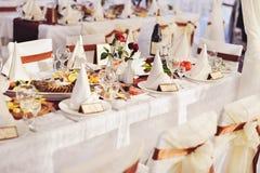 Het banket van het huwelijk in een restaurant Royalty-vrije Stock Afbeelding