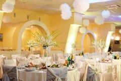 Het banket van het huwelijk in restaurant Royalty-vrije Stock Fotografie