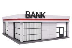 Het bankgebouw. stock illustratie