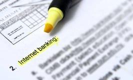 Het bankwezen van Internet Stock Afbeeldingen