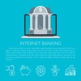 Het Bankwezen van Internet Royalty-vrije Illustratie