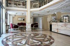 Het barokke binnenland van het stijlhotel Stock Afbeelding