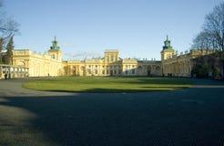 Het barokke Paleis van Wilanow stock fotografie