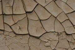 Het barsten het Vuil van de Woestijn Stock Afbeelding