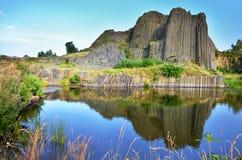 Het basalt schommelt genoemd orgaan, Tsjechische republiek royalty-vrije stock foto's