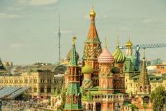 Het Basilicum` s Kathedraal van heilige in Moskou royalty-vrije stock afbeelding