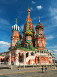 Het Basilicumkathedraal van heilige op het Rode Vierkant in Moskou, Rusland stock fotografie