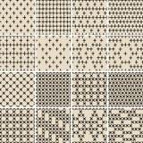 Het basiskrabbel Naadloze Patroon plaatste Nr 5 in zwart-wit Royalty-vrije Stock Afbeelding