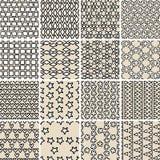 Het basiskrabbel Naadloze Patroon plaatste Nr 10 in zwart-wit Royalty-vrije Stock Afbeelding