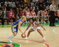 Het basketbal Euroleague van vrouwen Stock Foto's