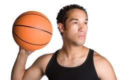 Het Basketbal van de Holding van de mens royalty-vrije stock foto