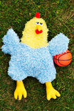 Het basketbal van de kip Stock Foto