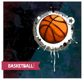 Het basketbal van Grunge vector illustratie