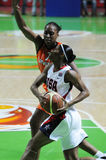 Het basketbal van vrouwen. UGMK versus de V.S. Royalty-vrije Stock Afbeeldingen
