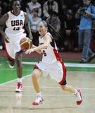 Het basketbal van vrouwen. UGMK versus de V.S. Royalty-vrije Stock Afbeelding