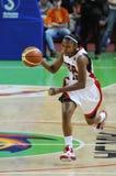 Het basketbal van vrouwen. UGMK versus de V.S. Stock Afbeelding