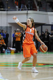 Het basketbal van vrouwen. UGMK versus de V.S. Stock Afbeeldingen