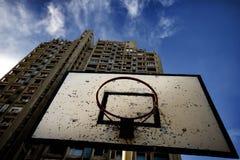 Het basketballijst van de straat Stock Foto's