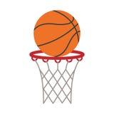 het basketbalscore van de balmand het schieten royalty-vrije stock foto